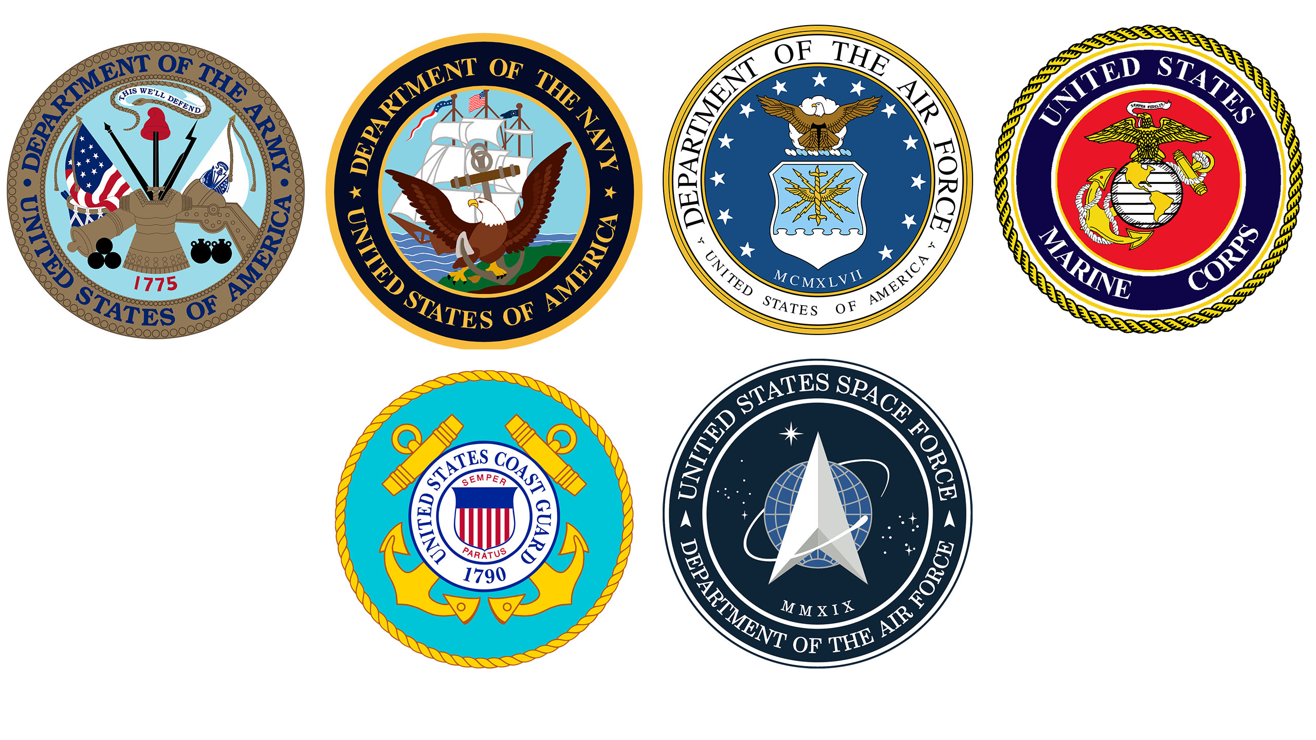 Updated Armed Forces Seals